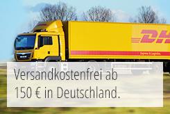 Versandkostenfrei ab 150 Euro in Deutschland